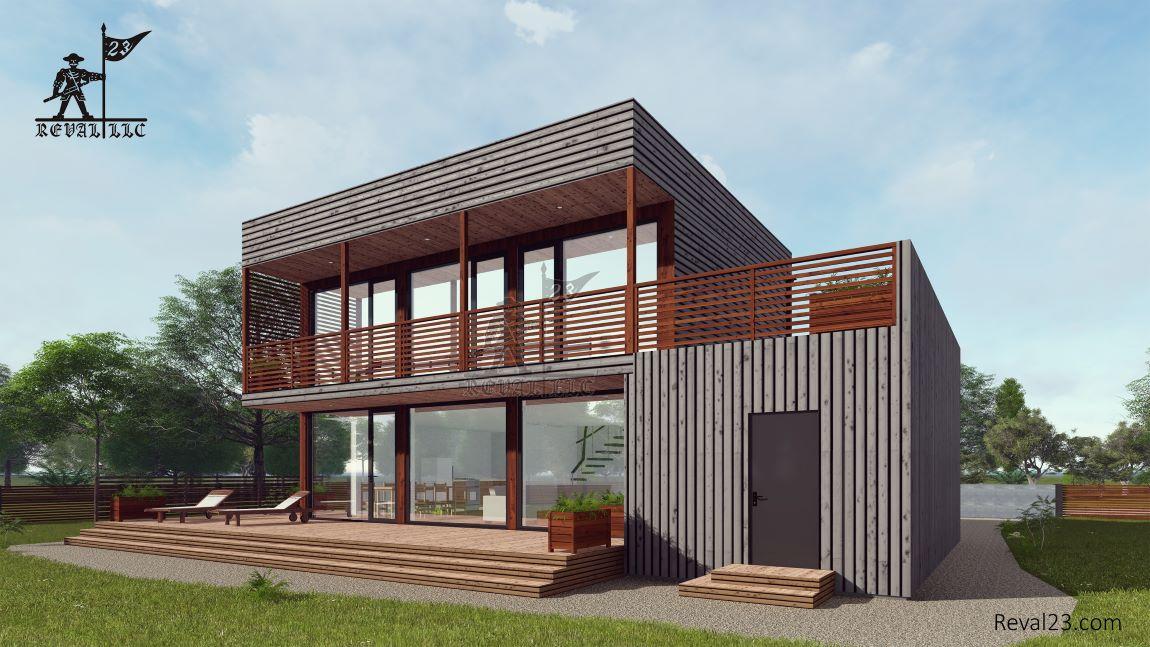 Купить земельный участок с домом площадью 107 кв.м.