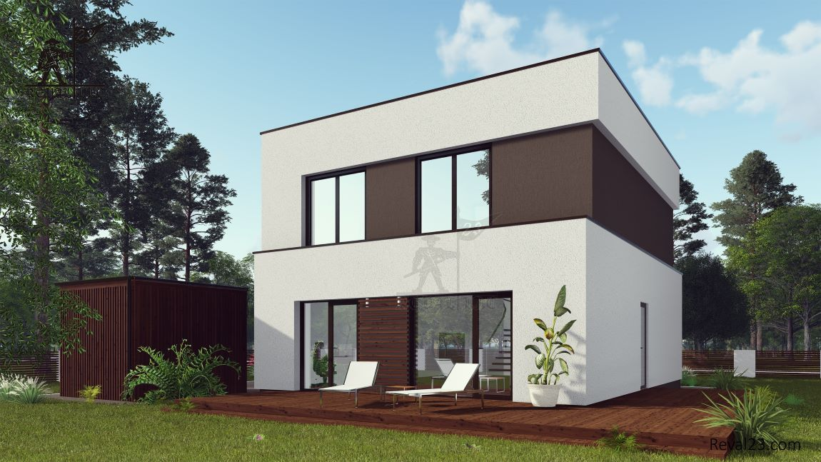 Продажа земельного участка с домом по проекту загородного дома Аулум площадью 117 кв.м.