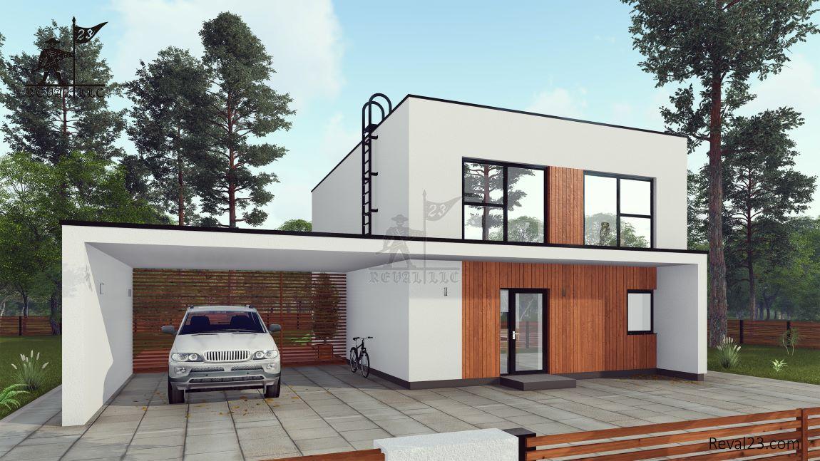 Продажа земельного участка с домом по проекту загородного дома Лемвиг площадью 139 кв.м.