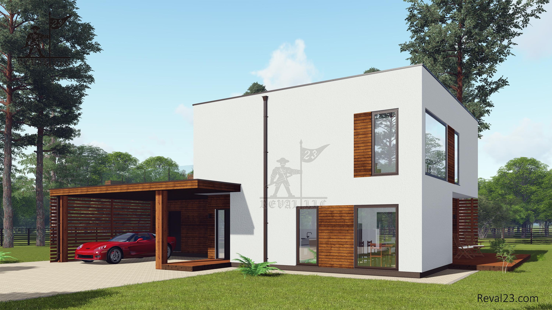 Загородный дом площадью 150 кв. м по проекту Соби